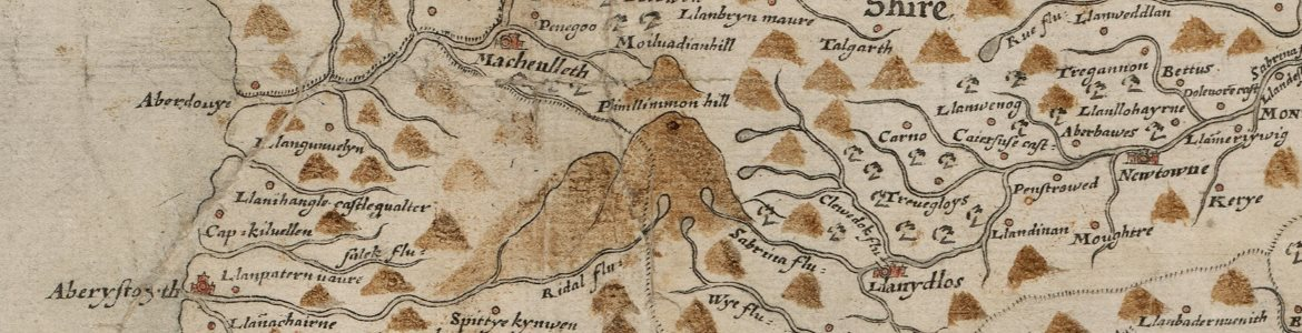 Saxton's Map of Wales, dating from 1577-78